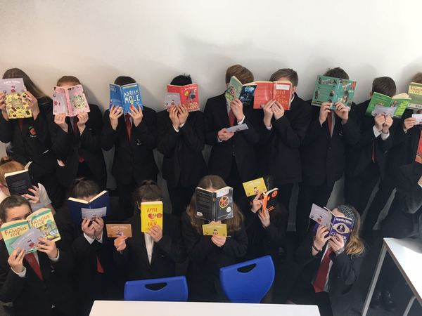 Year 8 pupils enjoying the reading challenge