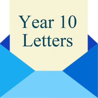 Year 10 Letters