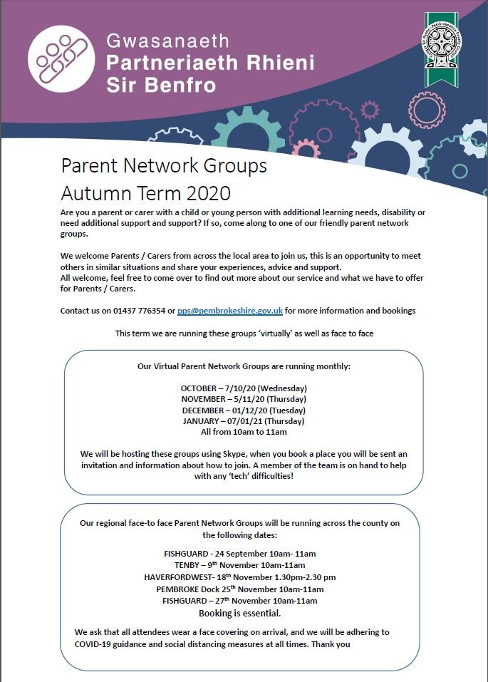Parent Network Autumn 2020