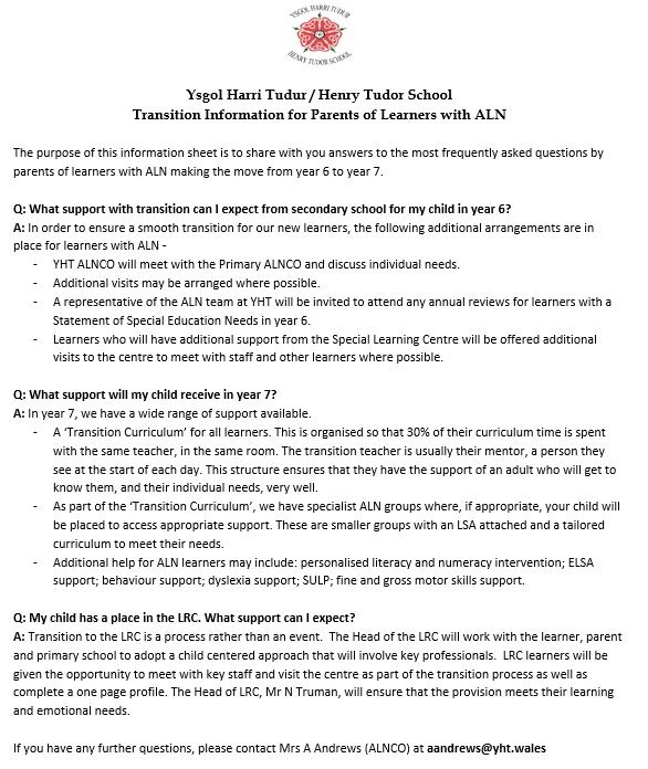 Transition Document FAQs